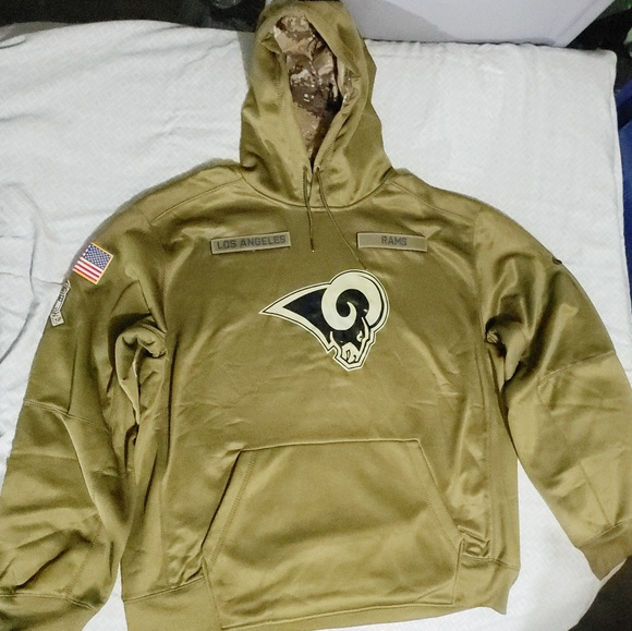 check out 24bf3 47bc8 Los Angeles Rams Salute to Service hoodie. 2XL Boutique